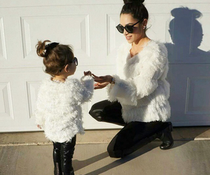 mom, daughter, and fashion image