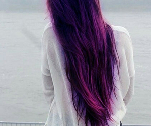 hair, purple, and long hair image