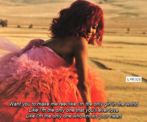 rihanna, in the world, and only girl image