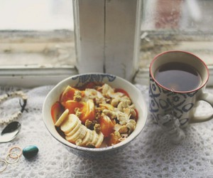 breakfast, cup, and fruit image