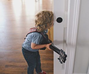 guitar, cute, and kids image