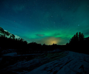 lights, photography, and southern lights image