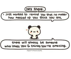 love, panda, and amazing image