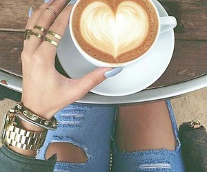 heart, coffee, and nails image