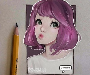 draw, drawing, and girl image