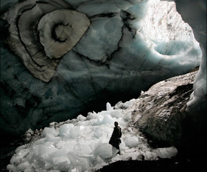 cave, ice, and nature image