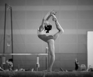 black and white, gym, and gymnastics image