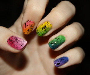 color, colorful, and nail image