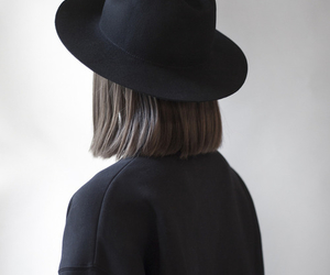 black, hat, and hair image