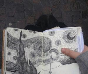 art, tumblr, and draw image