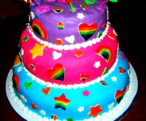 cake and lisa frank image