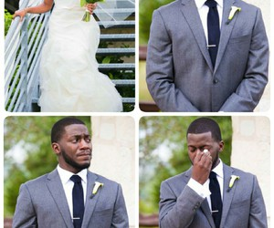 black, bride, and cry image