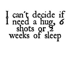 hug, sleep, and shot image
