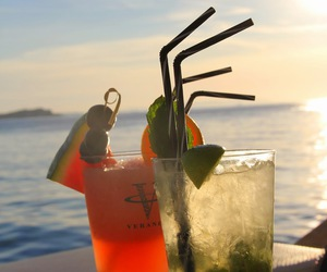 cocktail, drink, and Greece image