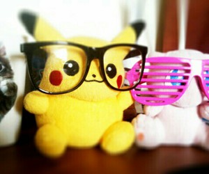 pikachu, pokemon, and glasses image