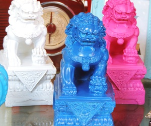 chinese, colorful, and lion image