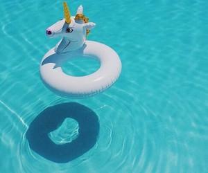 unicorn, summer, and pool image