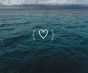 heart, sea, and wallpaper image