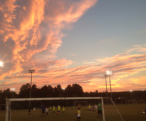 field, goal, and sky image