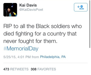 black woman, memorial day, and truth image