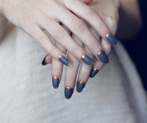 blue, nails, and delicate image