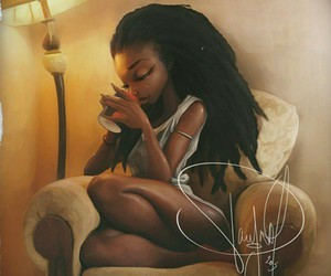 art, cartoon, and african american woman image