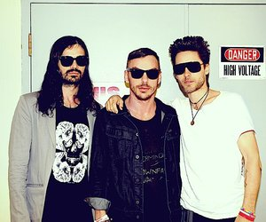 30 seconds to mars, shannon, and tomo image