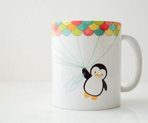 cute, penguin, and mug image