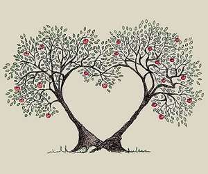 art, spring, and love image