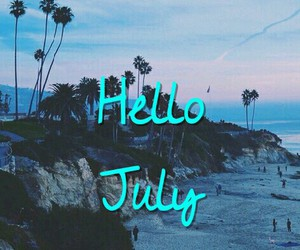 hello july love summer image