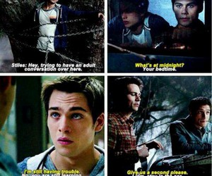 teen wolf, stiles stilinski, and liam dunbar image