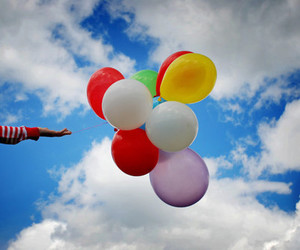 balloons, sky, and inspiration image