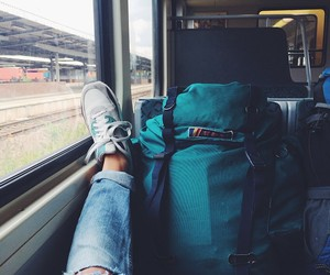 travel, bag, and traveling image