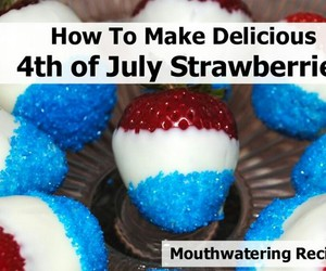 fourth of july, july 4th, and strawberries image