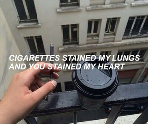 grunge, cigarette, and black image