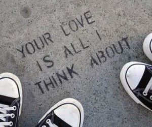 love, converse, and quote image