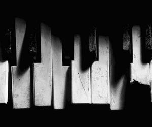 piano, music, and broken image