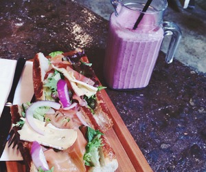food, lunch, and smoothie image