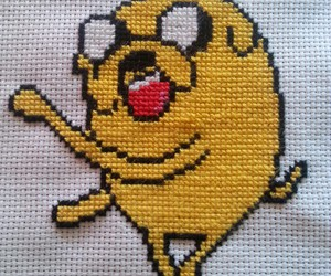 at, cartoons, and cross stitch image
