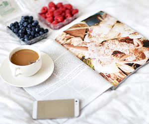 iphone, coffee, and food image