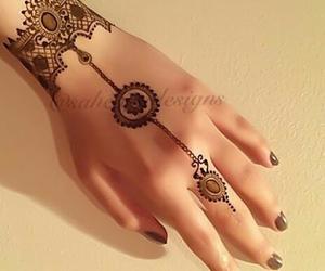 beautiful, henna, and pretty image