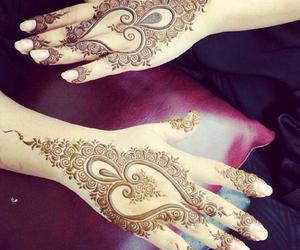 henna, beautiful, and tattoo image