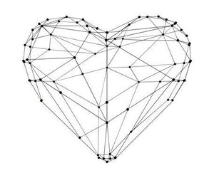 heart, lines, and outlines image