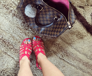 heels, Louis Vuitton, and pink image