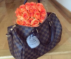 LV, orange, and roses image