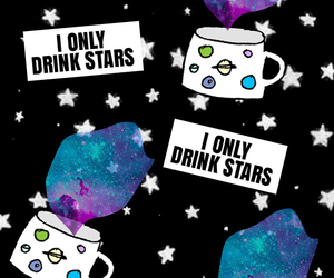 drink, me, and stars image