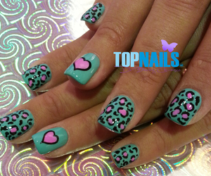 heart, nail art, and nails image