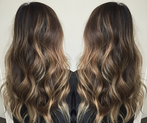 hair, pretty, and woman image