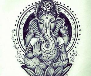Ganesha, elephant, and peace image