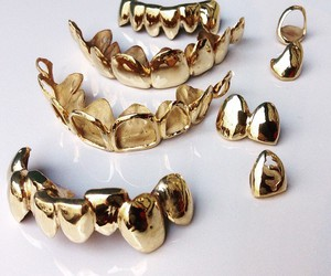 gold, teeth, and grillz image